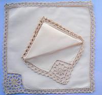 Lace handkerchief massifs 100% cotton handkerchief self-shade
