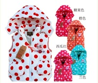 Retail New Baby Girl's Autumn Cotton Jacket/Girl's Outerwear/Children's Hoodies & Sweatshirts/Girl's Vests&Waistcoats