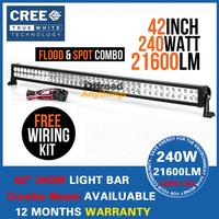 "42"" 240W Cree LED Work Light Bar 12V 24V IP67 For 4WD 4x4 Off road Light Bars Truck Boat Train Bus"