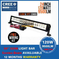 24 INCH 120W Cree LED LIGHT BAR 12V FLOOD SPOT LED DRIVING LIGHT FOR OFFROAD ATV 4x4 TRUCK BOAT TRACTOR MARINE IP67