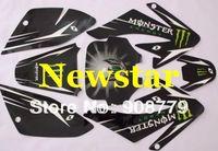 3M CRF70 GRAPHICS KIT decals Sticker for Honda MOTO Dirt Pit Bike Parts CRF70 BLACK SH-528