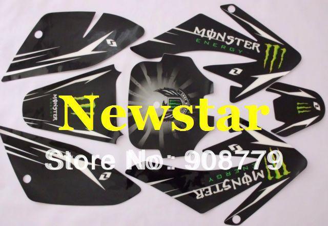 3M CRF70 GRAPHICS KIT decals Sticker for Honda MOTO Dirt Pit Bike Parts CRF70 BLACK SH-528(China (Mainland))