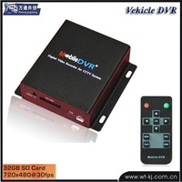 CCTV 1 channel portable recorder support 32GB SD card with DVR800 aviation connector and 12V power supply to the camer SD