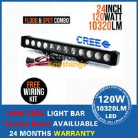 120W Cree LED Offroad Lamp Bar Combo Beam Work Light Auto LED Light Bar Boat  12V 24V Marine Boat Camping