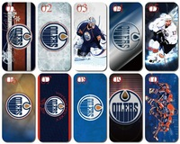 10PCS/lot  new unique design edmonton oilers white hard back cover case for iphone 5 5th 5s+Free shipping