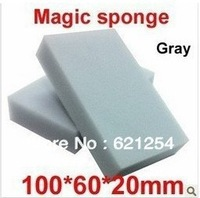 50 pcs/lot Gray Magic Sponge Eraser Melamine Cleaner,multi-functional Cleaning 100x60x20mm Wholesale & Retial