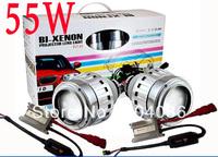 55W G5 HID bi xenon projector lens headlight kit+Bixenon Hight Low light+2XAngel Eyes+2X55W Ballasts+H4 H7 9004 H1 9006 9005