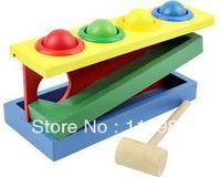 1set Freeshipping  knocking ball Educational wooden toys baby kids toys children Multifunction Early Learning knocking blocks