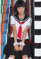 Sailor suit short-sleeve cos school uniform costume class service work wear set