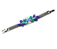 SGFB039 /Sweet Girl / Free shipping /wholesale price/ blue leaf chain bracelet