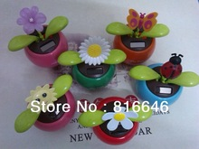 Free Shipping Solar Dancing Toys Butterfly Sunflower (China (Mainland))