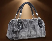 Free shipping 2013 Winter Women Fur Bags Women Crocodile Pattern Shoulder bags Women Fur handbags Dinner Bag