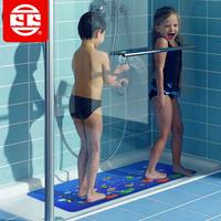 Free shipping Limited edition koko cartoon child bathroom plastic slip-resistant pad bathroom mats bathroom shower mat blue