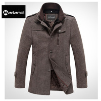 Free shipping+ Fashion Men's Trench Coat, short paragraph British style Winter Jacket ,Single breasted Overcoat woolen Outerwear