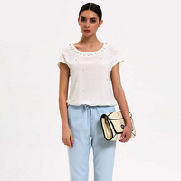 Free Shipping 2013 summer new LIL handmade nails drill new casual loose pants casual fashion Loose Jumpsuit