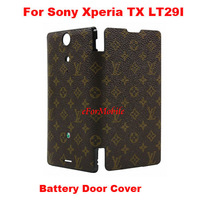Slim PU Leather Case Mobile Phone Battery Cover Battery Door Housing for  Sony Xperia TX LT29i