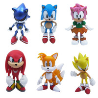Free shipping 6pcs X Sonic the Hedgehog Collection Figure doll Puppets