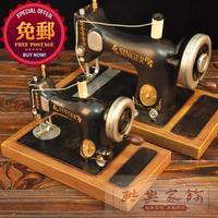 Vintage chinese style home furnishings antique sewing machine tieyi model decoration iron sheet