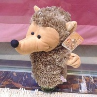 Free shipping NICI toy NICI hand puppet hedgehog plush hand puppet toy for kids gift mouth can't open