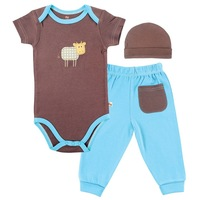 Hudson Baby Bamboo cotton Layette Set,  Back Pocket Pants and baby boy romper bodysuit clothing set,0-3,3-6,6-9months