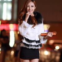 Long-sleeve 2013 fur coat rabbit fur female slim medium-long