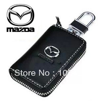 Free Shipping Genuine Leather MAZDA Car Key Wallet M6 M3 M2 M5 Mx5 Genuine Leather Key Wallet