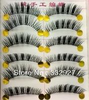 Handmade false eyelashes 066 transparent natural nude makeup box 10 cross