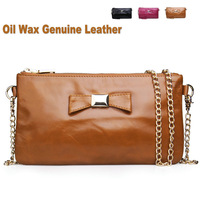 Vintage Wax Leather Handbag Wallet Purse Evening Hand Wallet Shoulder Women Messenger Bag 3pcs Wholesale
