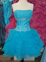 Sexy Short Prom Homecoming Dress Turquoise Sz XS NWT