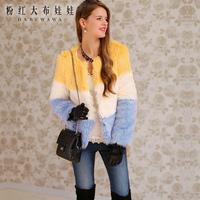 Lovable Secret - Fur outerwear 2013 sweet blue artificial fur coat ver  free shipping