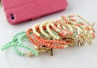 Wholesale Jewelry Stylish Beaded Cross Bracelet Set 4 Colors Sale 8596
