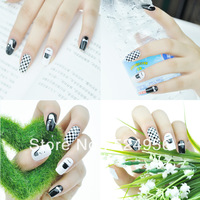 2013 Free Shipping  (14wraps/sheet , 6sheets/lot)  mustache Nail Art Stickers  DIY  Nail Decals Nail Stickers mix style