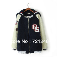 2013 winter fashion wadded jacket thickening coat,College baseball cotton-padded clothes coat,fashion wear,ladies clothing 2218