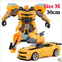 Robot 28cm Car Chevrolet Camaro Robot Revenge of the Fallen Human Alliance Bumblebee,Sam Action Figures Toys,toy for boys