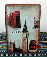 Vintage London tin plate signs London Metal poster home Bar pub Metal painting H-28 20*30 CM mixed order Freeshipping