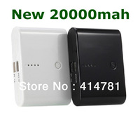 Free shipping Mobile power supply New 20000MAH power bank 20000mAh Fast delivery With Retail Packag for iPhone/iPad/Mobile Phone