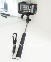 Flexible Handheld Stainless Steel Monopod PortableTelescopic Monopod Tripod For iPhone 4 4S 5 5S 5C Digital Camera & SmartPhones