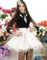 New winter and autumn white jacquard ladies high waist puff skirt /womens skrits free shipping+wholesale