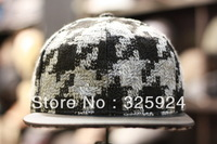 Muse Online wholesale Snapback Tweed Leather Snapback in korean style with 3 colors