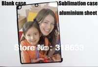 New DIY Blank sublimation case for ipad air,  hard plastic shell with metal aluminium sheet.  free shipping