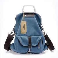 The new Cat Amoy versatile canvas shoulder messenger bag with three Japanese and Korean style handbag College Wind