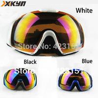 Free shipping,100%UV Protection skiing goggles  Anti-UV snowboard goggles Glasses Eyewear Lens 3 colors