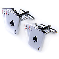 A poker hold'em french shirt cufflinks nail sleeve male