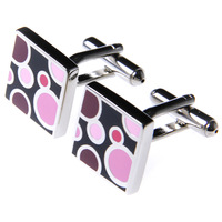 French shirt cuff cufflinks multi-colored square circle male nile nail sleeve cufflink