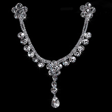 Free shipping The bride hair accessory marriage accessories chain ornaments hair accessory side-knotted clip jewelry