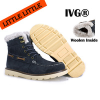 2013 Fashion Men's Winter Real Leather Outdoor Sport Boots Waterproof Snow Boots Shoes Plush inside Warm Rubber soles
