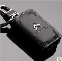 Free Shipping Genuine Leather  Citroen Key Wallet Key Cover Picas C4 C5 Vehienlar Bombards Elysee Car Key Wallet