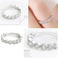 Promotion! Wholesale! Min.order is $10(mix order)Freeshipping/Fashion finger ring starlight dot ring female SR016
