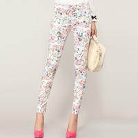 New 2014 Spring And Autumn New Fashion Legging Plus Size Female Women'S Legging Trousers Flower Print Pants XXXL,4XL XSG01