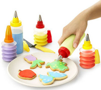Diy baking tools cookies cream butter chocolate cake mould decorating mouth set bottle